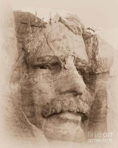 Mount Rushmore Faces Roosevelt Poster