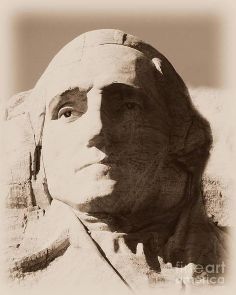 Mount Rushmore Faces Washington Poster