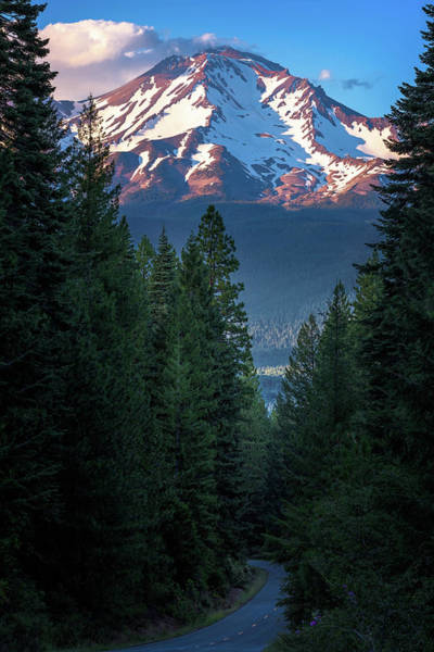 Mount Shasta - A Roadside View Poster