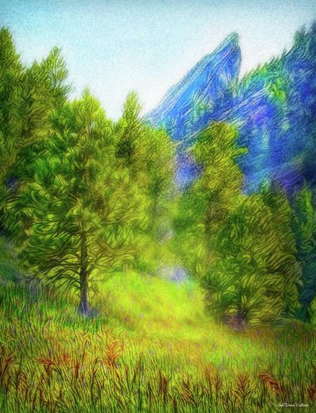 Mountain Field Springtime Poster