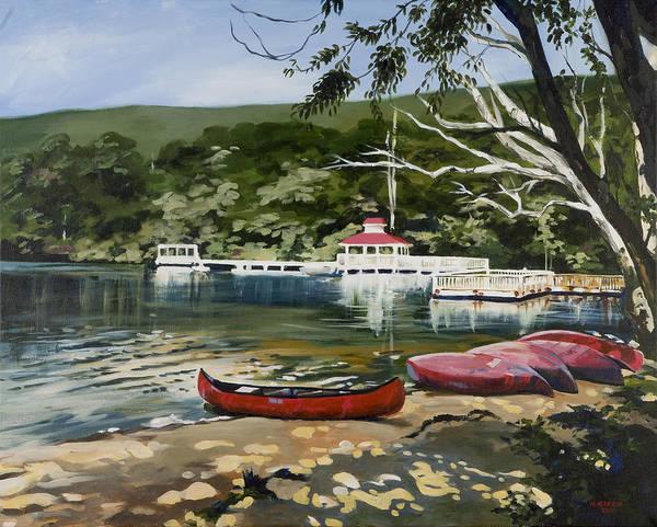 Mountain Lake Summer Poster
