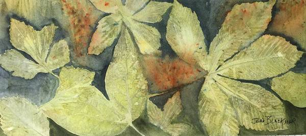 Poster featuring the painting Mountain Leaves by Jean Blackmer