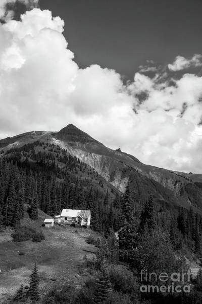 Mountain Mining Home In Black And White Poster