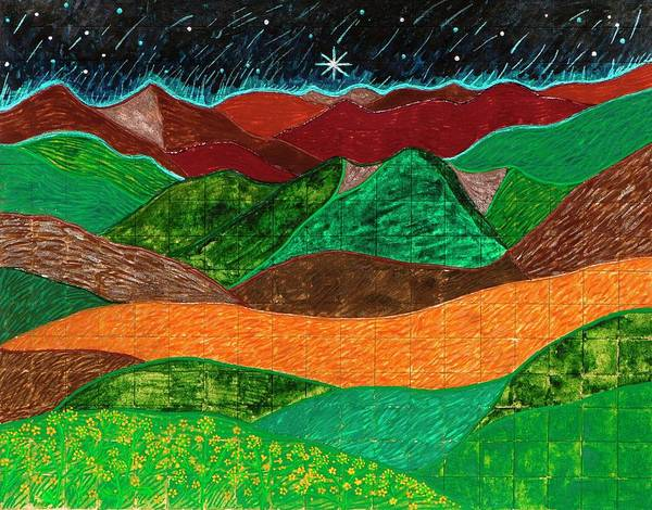 Mountains Sing To The Night Sky Poster