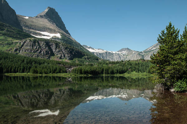 Mt. Grinnell Across Red Rock Lake Glacier National Park Poster