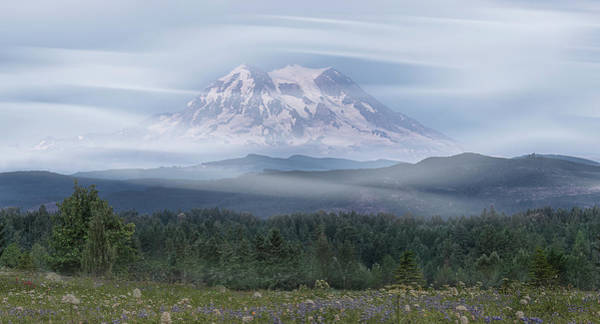 Poster featuring the photograph Mt. Rainier by Patti Deters