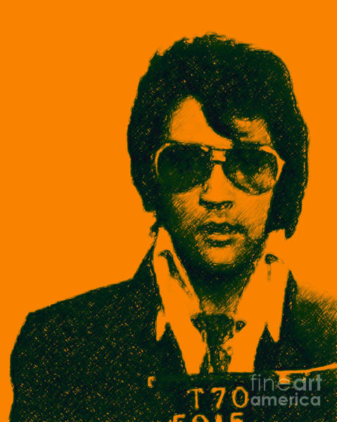 Mugshot Elvis Presley Poster