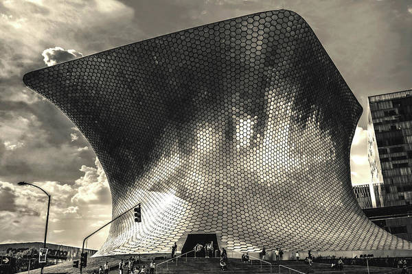 Museo Soumaya - Mexico Df Bnw I Poster