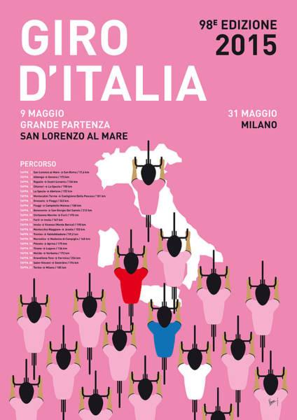 My Giro D'italia Minimal Poster Percorso 2015 Poster