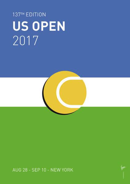 My Grand Slam 04 Us Open 2017 Minimal Poster Poster