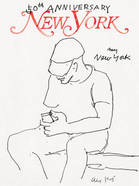 Poster featuring the drawing My New York by Alex Katz