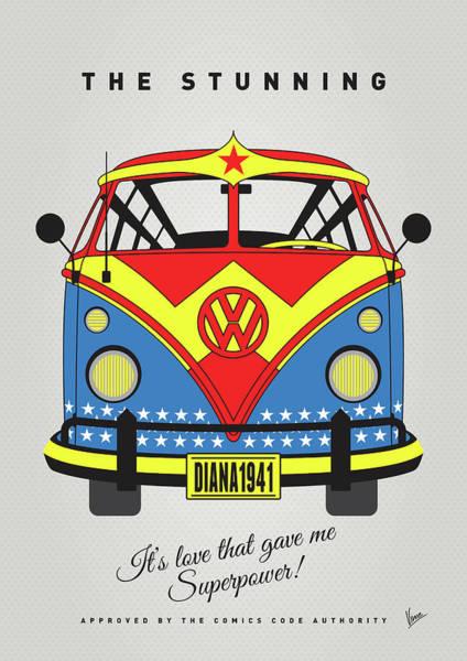 My Superhero-vw-t1-supermanmy Superhero-vw-t1-wonder Woman Poster