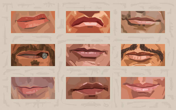 Mystery Mouths Of The Action Genre Poster