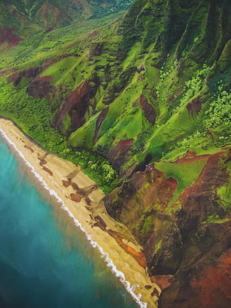 Na Pali Coast Aerial Poster