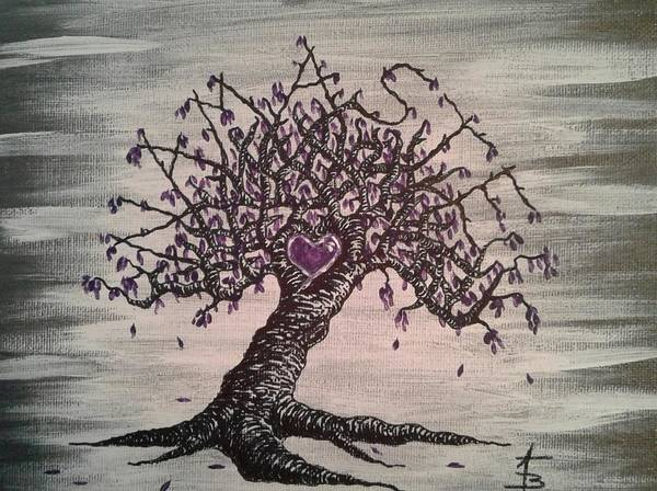 Poster featuring the drawing Namaste Love Tree by Aaron Bombalicki