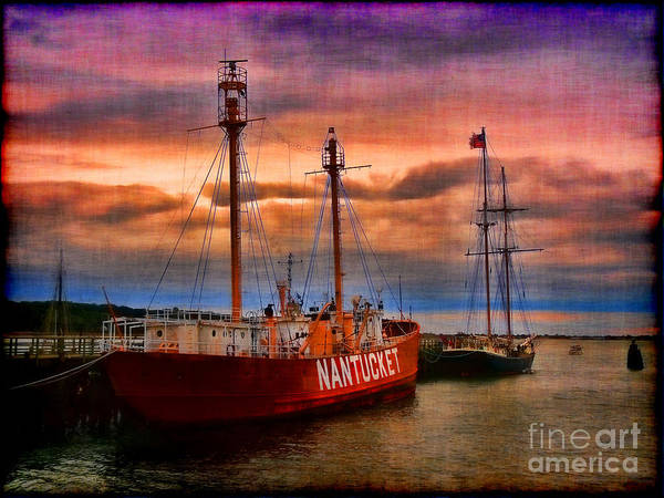 Nantucket Lightship Poster