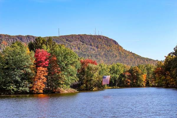 Nashawannuck Pond Fall Colors Poster