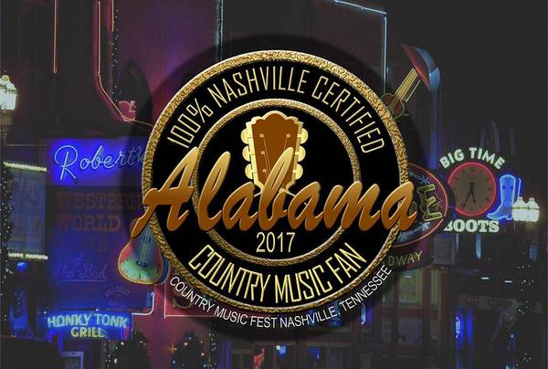Nashville Certified Alabama Country Music Fan Poster