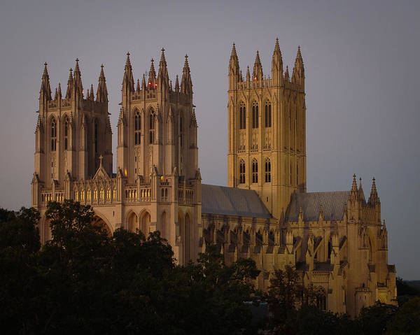 National Cathedral At Twilight Poster