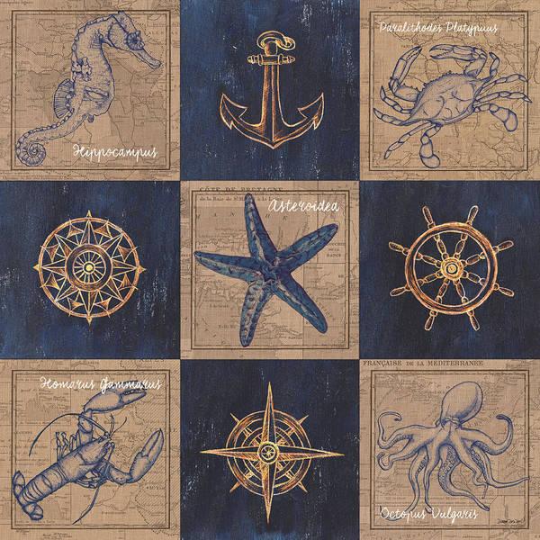 Nautical Burlap Poster
