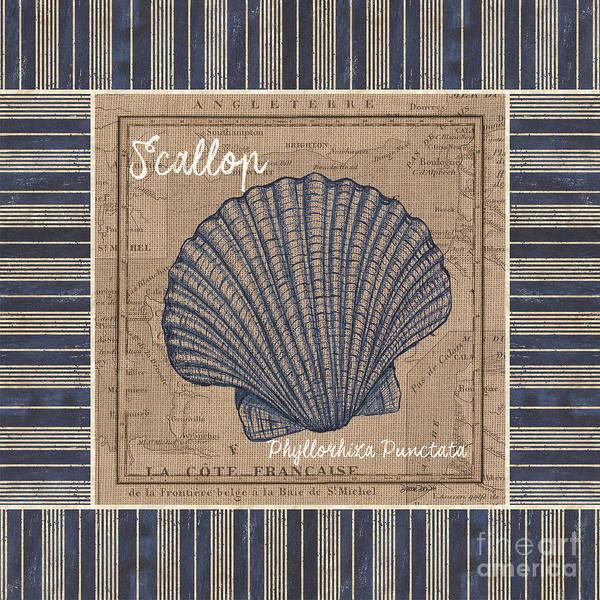 Nautical Stripes Scallop Poster