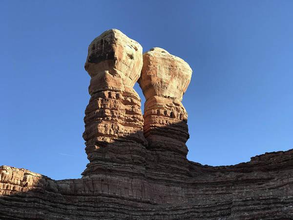 Poster featuring the photograph Navajo Twin Rocks by Bill Gabbert