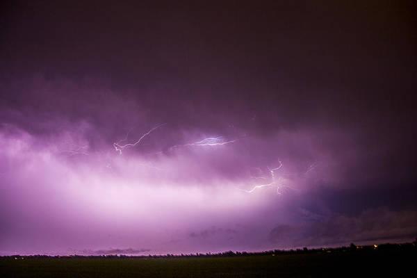 Nebraska Night Thunderstorms 013 Poster
