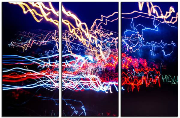 Neon Ufa Triptych Number 1 Poster