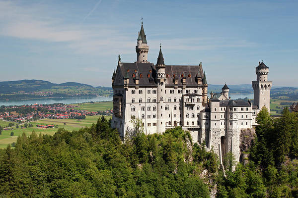 Neuschwanstein Castle With Village Poster