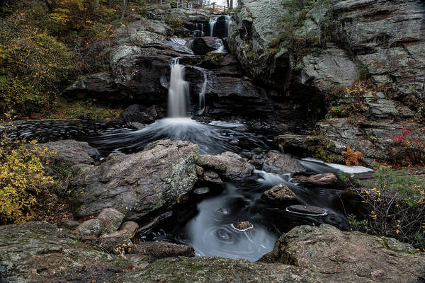 New England Waterfall In Autumn Poster