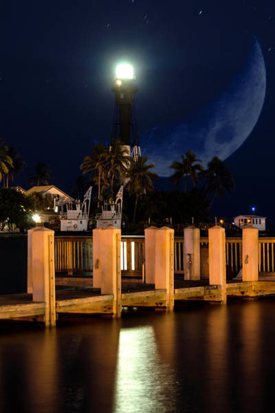 New Moon At Hillsboro Inlet Lighthouse Poster