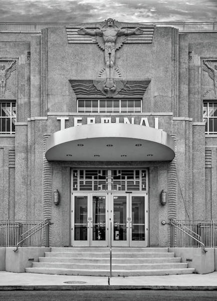 New Orleans Lakefront Airport Bw Poster