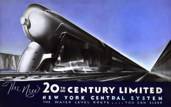 New York 20th Century Limited Train  1938 Poster