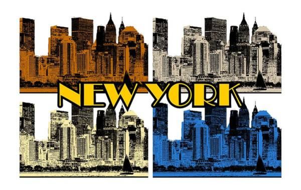 New York 4 Color Poster