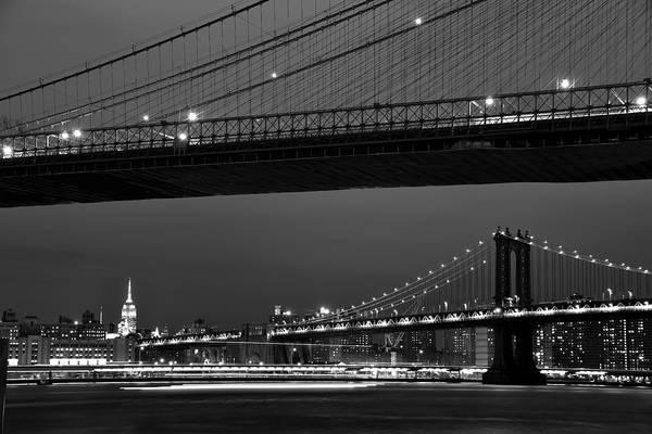 New York Bridges Poster