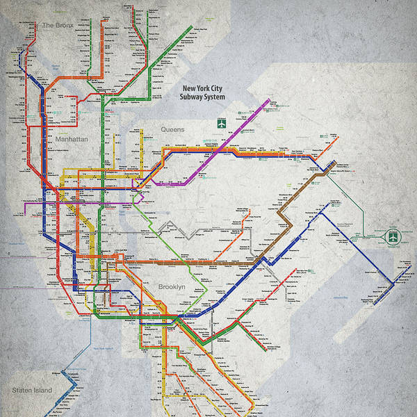 Nyc Subway Map 2017 Poster.New York Subway Posters Fine Art America