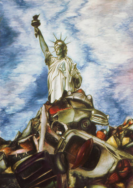 New York Liberty 77 - Fantasy Art Painting Poster