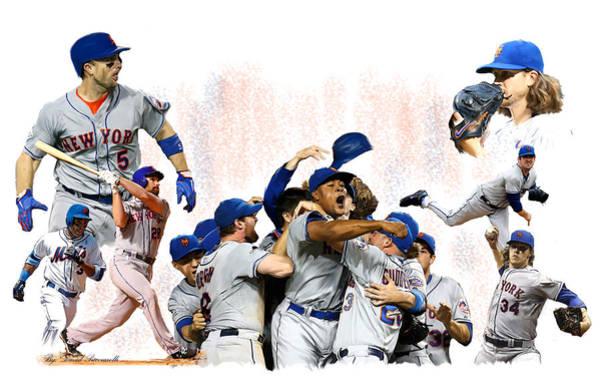 New York Mets 2015  Metropolitan Champions Poster
