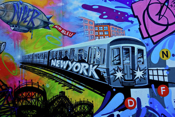New York Train Poster