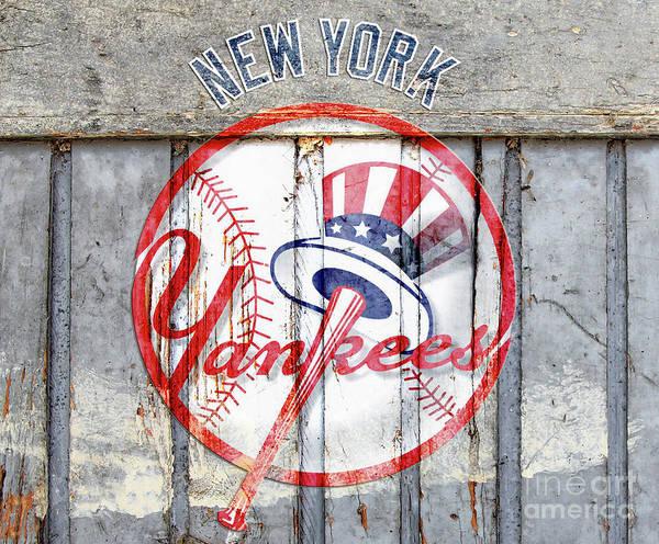 New York Yankees Top Hat Rustic Poster