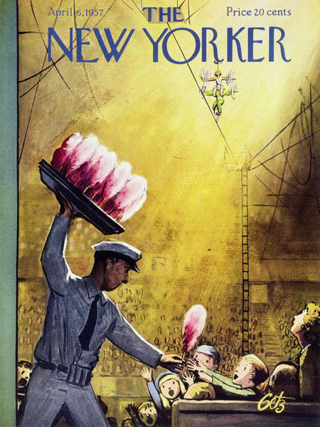 New Yorker April 6 1957 Poster