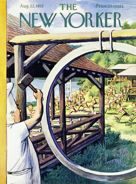 New Yorker August 22 1953 Poster