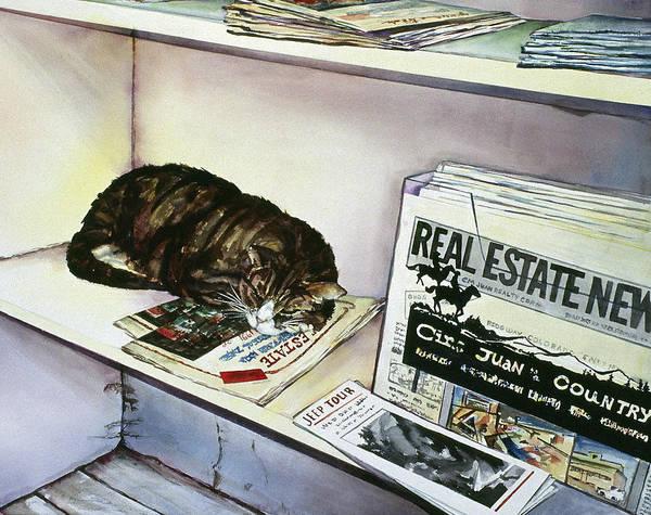 Newpaper Cat Poster