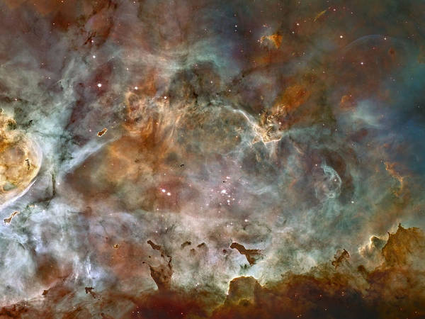 Ngc 3372 Taken By Hubble Space Telescope Poster