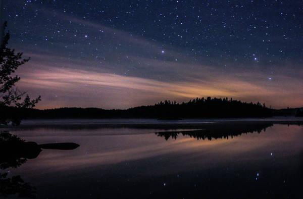 Night Reflections On Pharaoh Lake Poster
