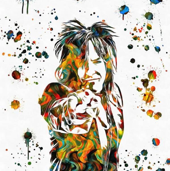 Nikki Sixx Paint Splatter Poster