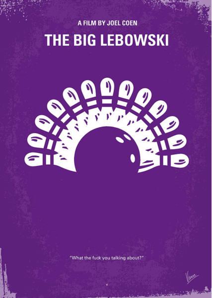 No010 My Big Lebowski Minimal Movie Poster Poster