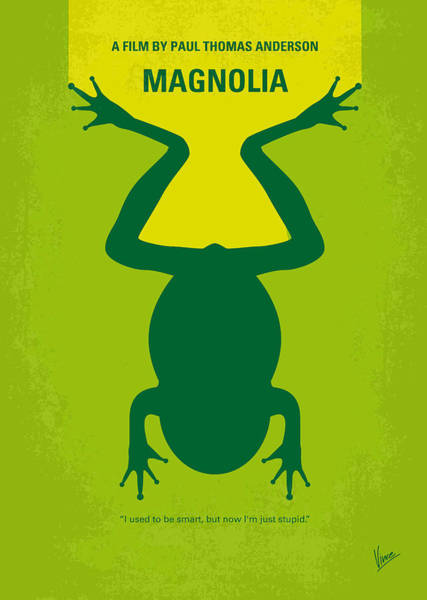 No159 My Magnolia Minimal Movie Poster Poster
