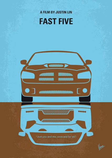No207-5 My Fast Five Minimal Movie Poster Poster