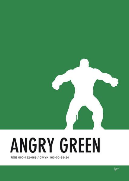 No22 My Minimal Color Code Poster Hulk Poster